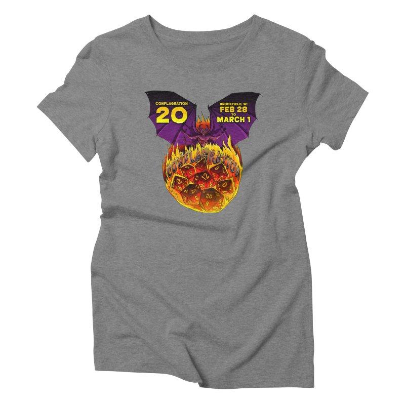 Conflagration 20 Official Design Women's Triblend T-Shirt by Joe Abboreno's Artist Shop