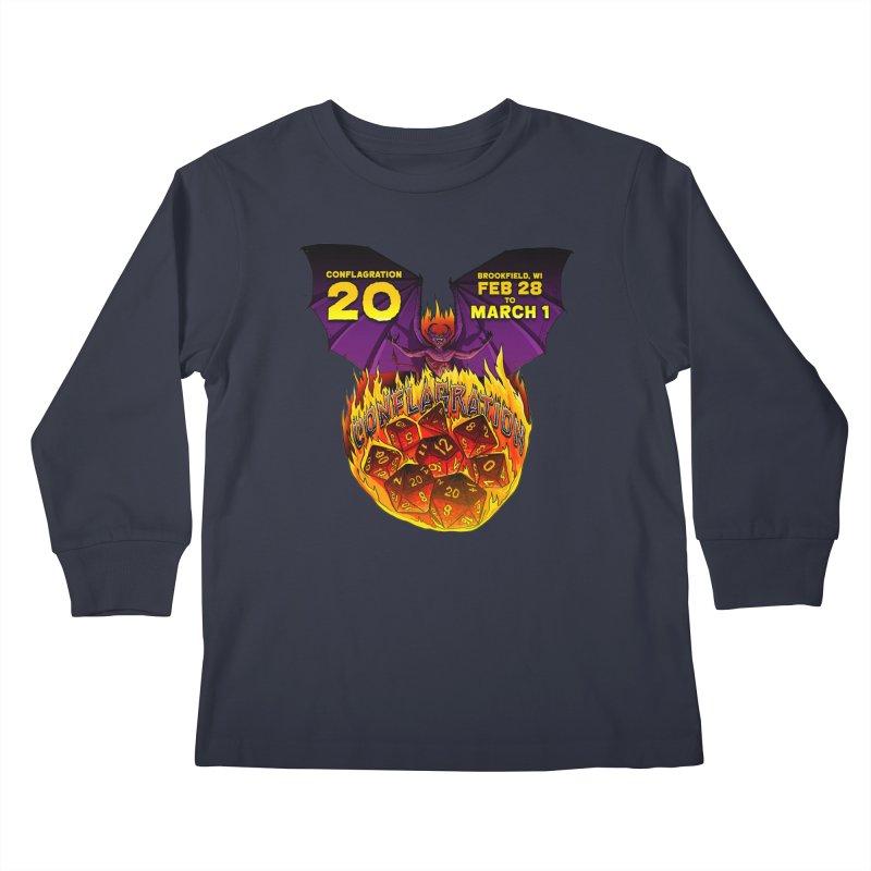 Conflagration 20 Official Design Kids Longsleeve T-Shirt by Joe Abboreno's Artist Shop
