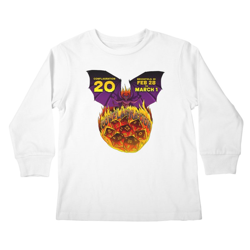Conflagration 20 Official Design Kids Longsleeve T-Shirt by Joe Abboreno's Artist Shop
