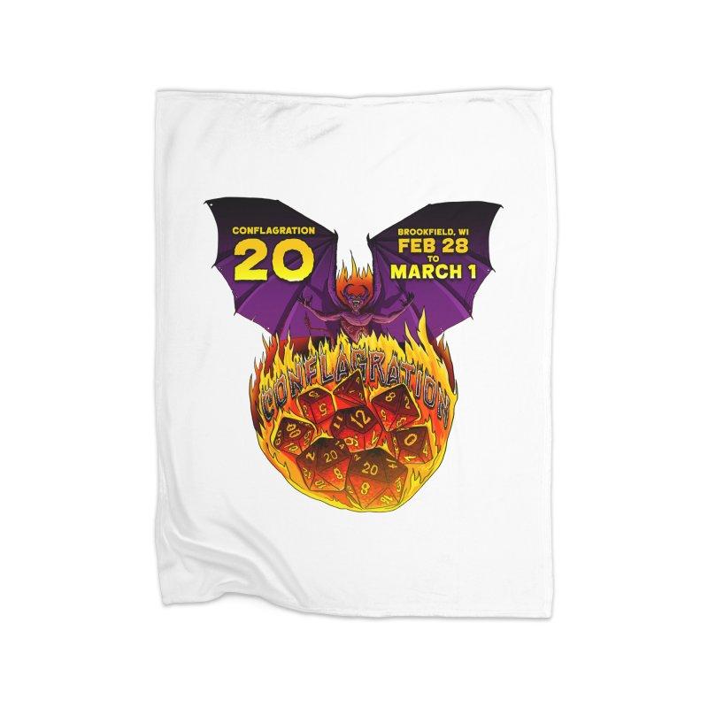 Conflagration 20 Official Design Home Fleece Blanket Blanket by Joe Abboreno's Artist Shop