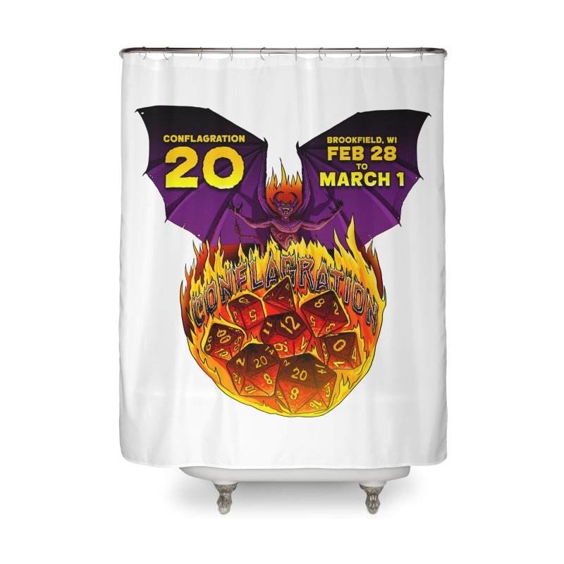 Conflagration 20 Official Design Home Shower Curtain by Joe Abboreno's Artist Shop