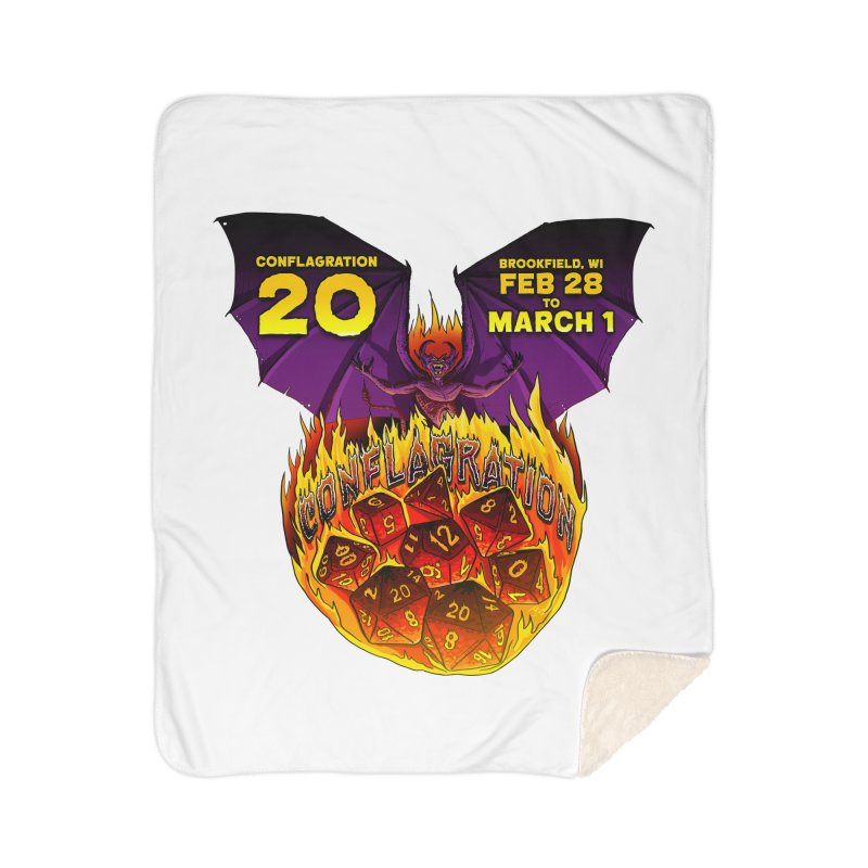 Conflagration 20 Official Design Home Sherpa Blanket Blanket by Joe Abboreno's Artist Shop
