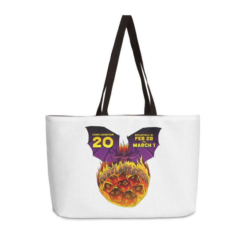 Conflagration 20 Official Design Accessories Weekender Bag Bag by Joe Abboreno's Artist Shop