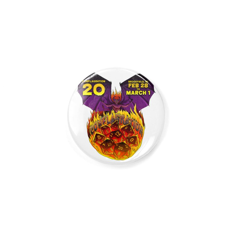 Conflagration 20 Official Design Accessories Button by Joe Abboreno's Artist Shop