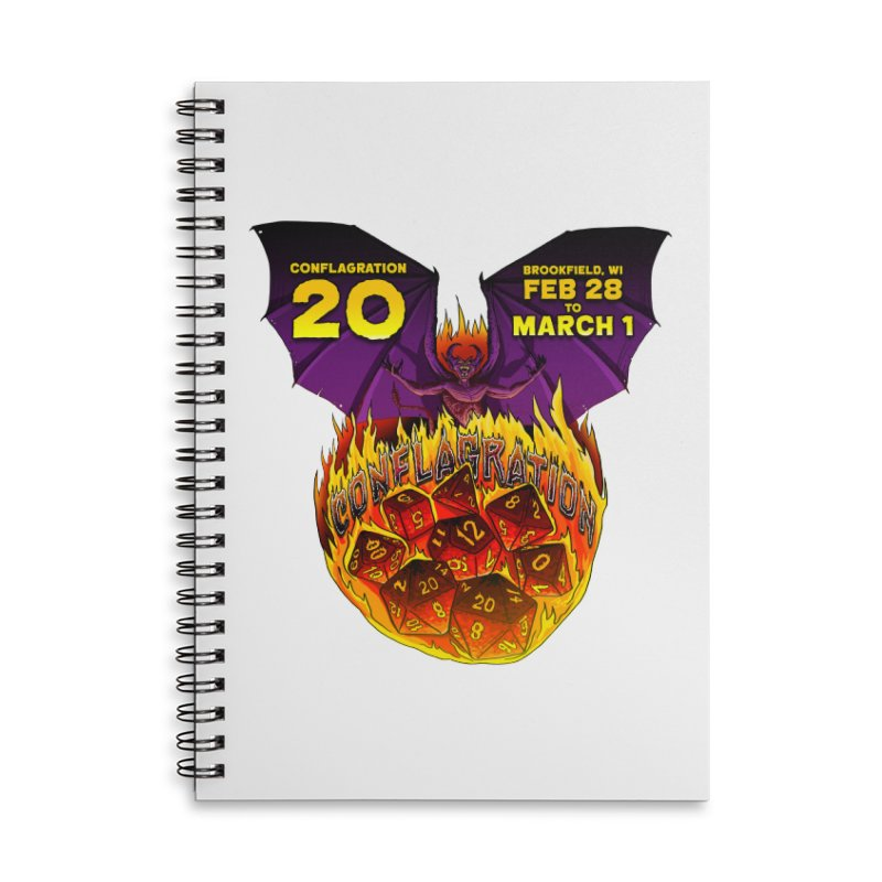 Conflagration 20 Official Design Accessories Lined Spiral Notebook by Joe Abboreno's Artist Shop