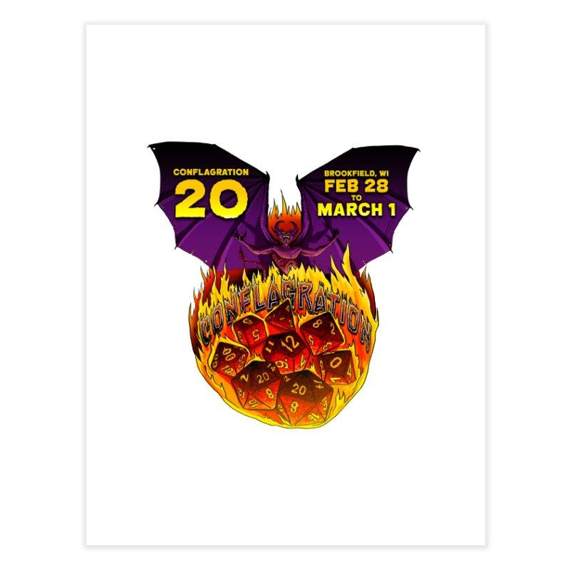 Conflagration 20 Official Design Home Fine Art Print by Joe Abboreno's Artist Shop