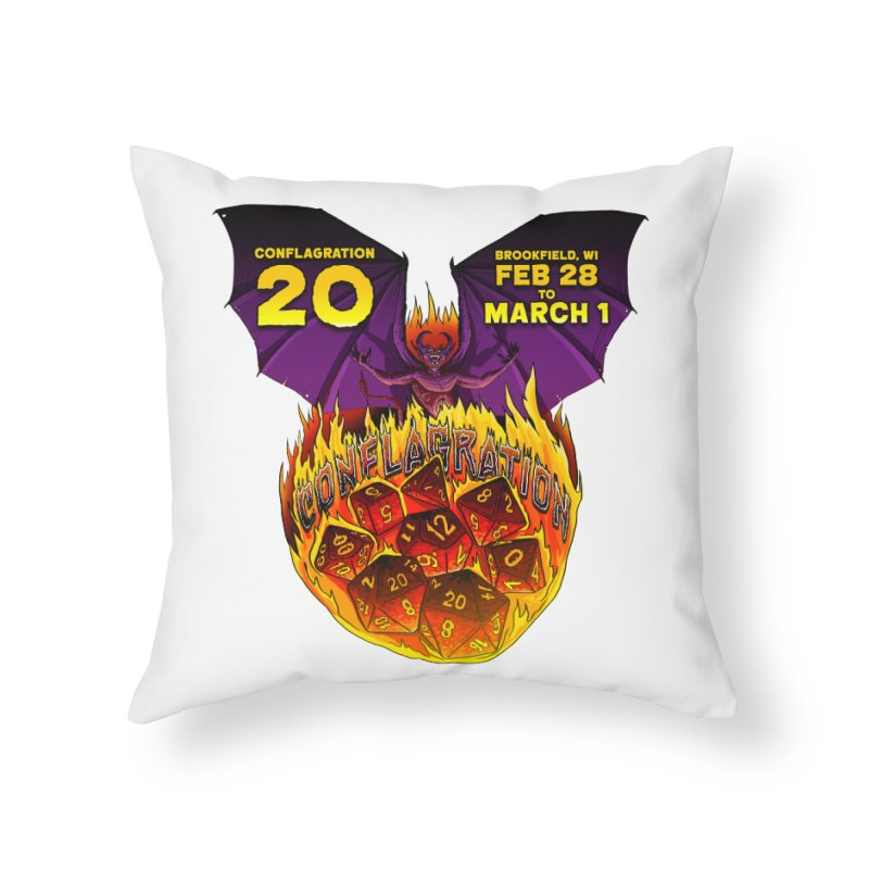 Conflagration 20 Official Design Home Throw Pillow by Joe Abboreno's Artist Shop
