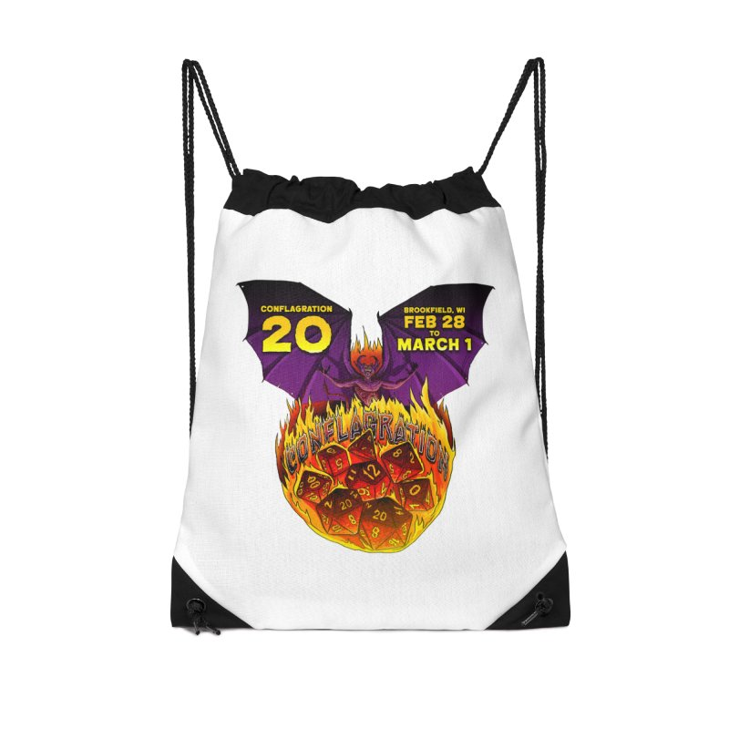 Conflagration 20 Official Design Accessories Drawstring Bag Bag by Joe Abboreno's Artist Shop