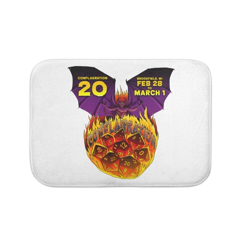 Conflagration 20 Official Design Home Bath Mat by Joe Abboreno's Artist Shop