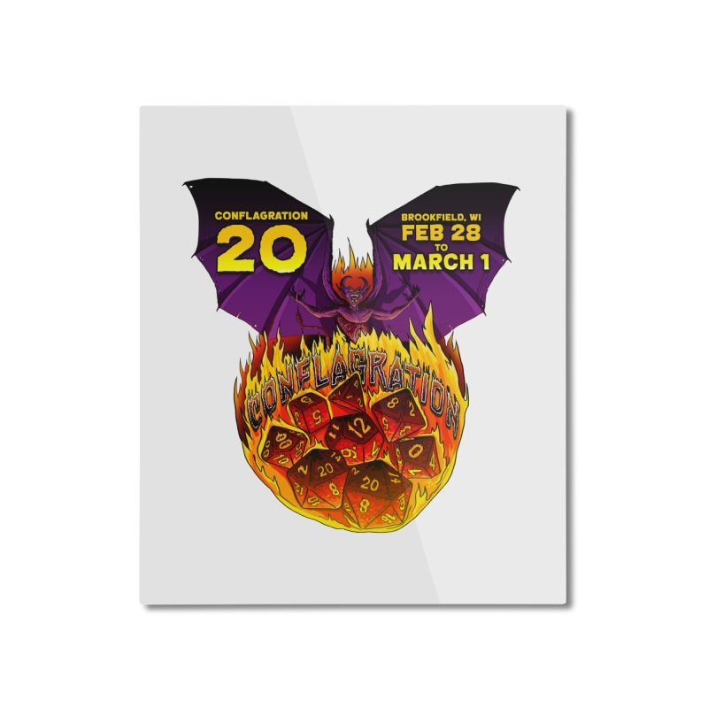 Conflagration 20 Official Design Home Mounted Aluminum Print by Joe Abboreno's Artist Shop
