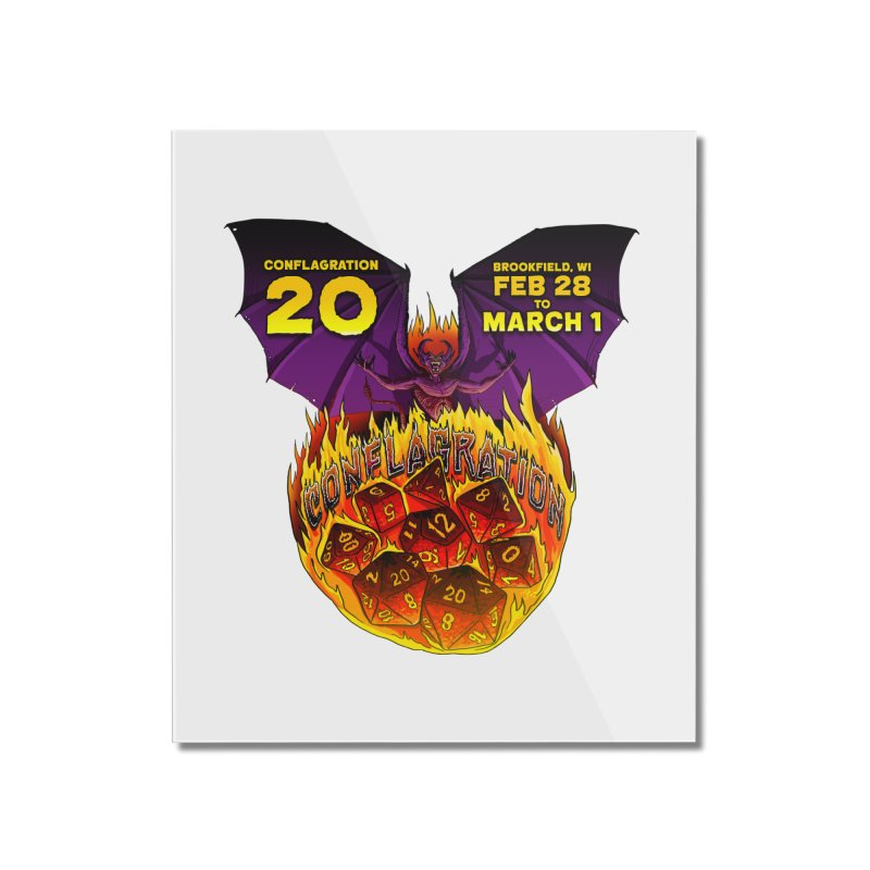 Conflagration 20 Official Design Home Mounted Acrylic Print by Joe Abboreno's Artist Shop