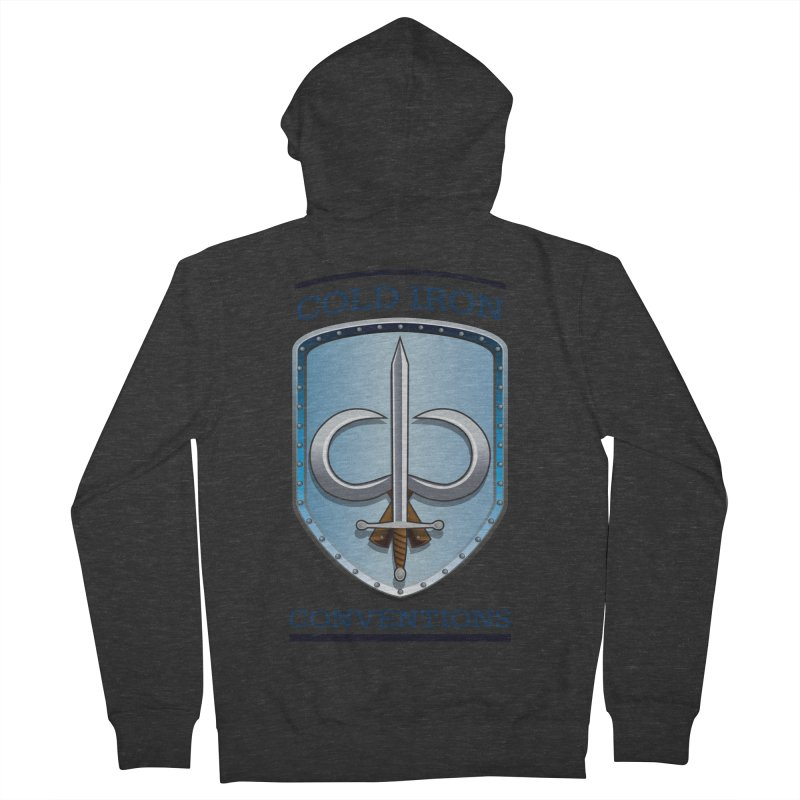Cold Iron Conventions Women's French Terry Zip-Up Hoody by Joe Abboreno's Artist Shop
