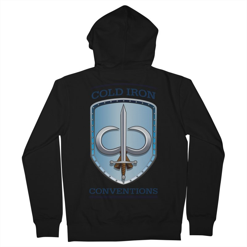 Cold Iron Conventions Men's French Terry Zip-Up Hoody by Joe Abboreno's Artist Shop