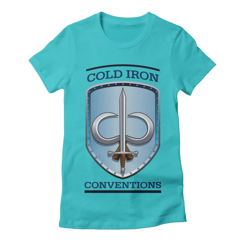 Cold Iron Conventions Women's Fitted T-Shirt by Joe Abboreno's Artist Shop
