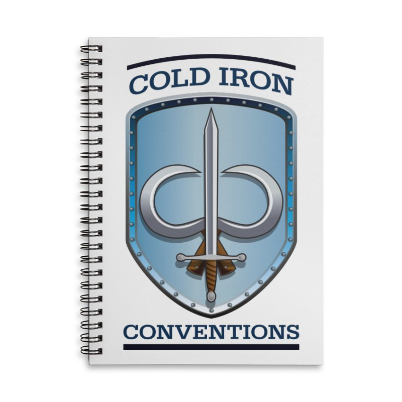 Cold Iron Conventions Accessories Lined Spiral Notebook by Joe Abboreno's Artist Shop