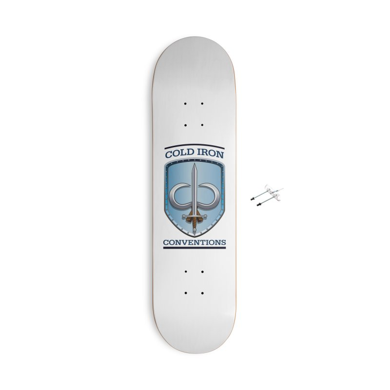Cold Iron Conventions Accessories With Hanging Hardware Skateboard by Joe Abboreno's Artist Shop