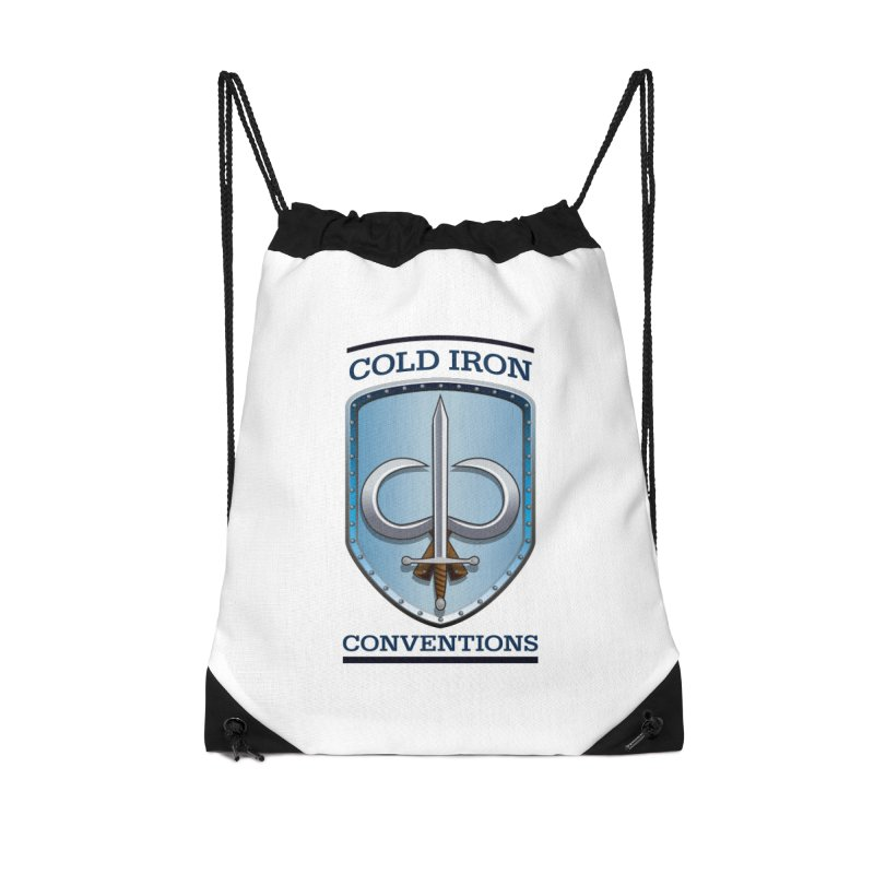 Cold Iron Conventions Accessories Drawstring Bag Bag by Joe Abboreno's Artist Shop