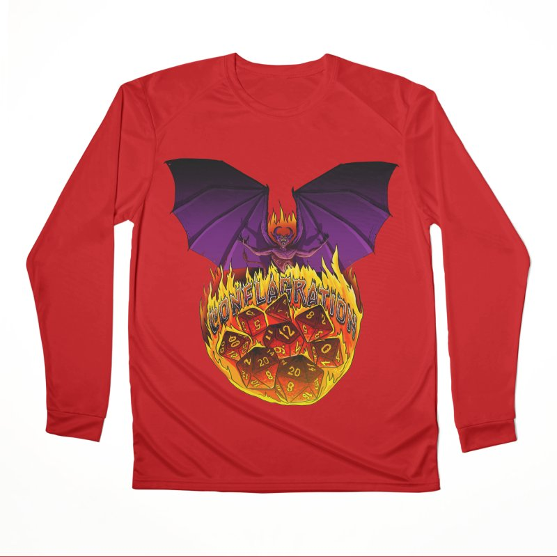Conflagration -Text Free Men's Performance Longsleeve T-Shirt by Joe Abboreno's Artist Shop
