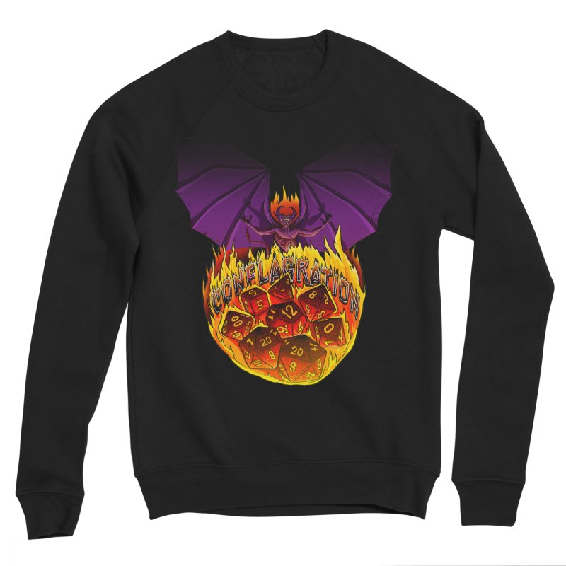 Conflagration -Text Free Men's Sponge Fleece Sweatshirt by Joe Abboreno's Artist Shop