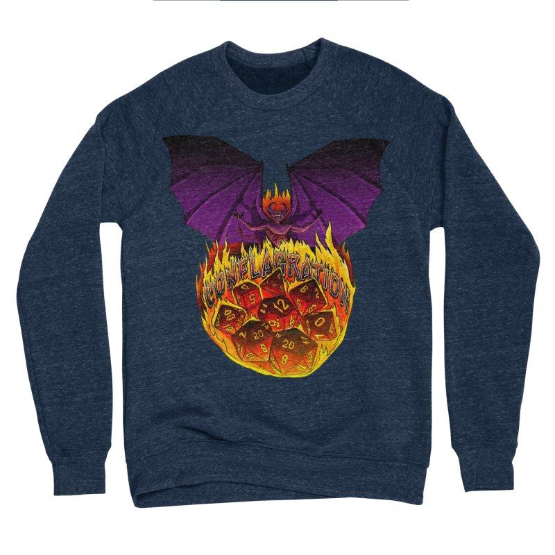 Conflagration -Text Free Men's Sponge Fleece Sweatshirt by Joe Abboreno's Artist Shop