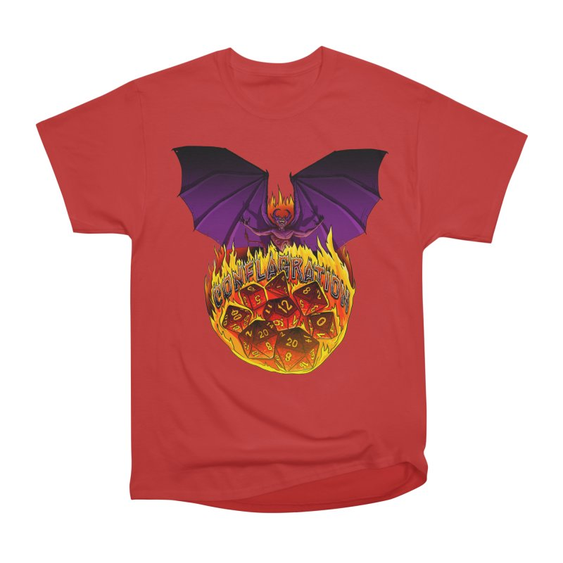 Conflagration -Text Free Men's Heavyweight T-Shirt by Joe Abboreno's Artist Shop
