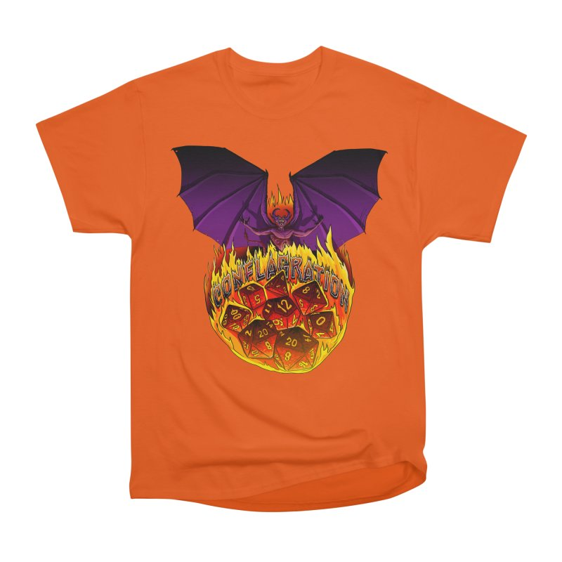 Conflagration -Text Free Women's Heavyweight Unisex T-Shirt by Joe Abboreno's Artist Shop
