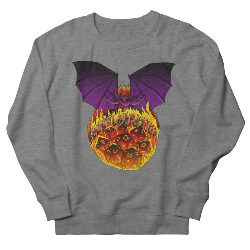 Conflagration -Text Free Men's French Terry Sweatshirt by Joe Abboreno's Artist Shop