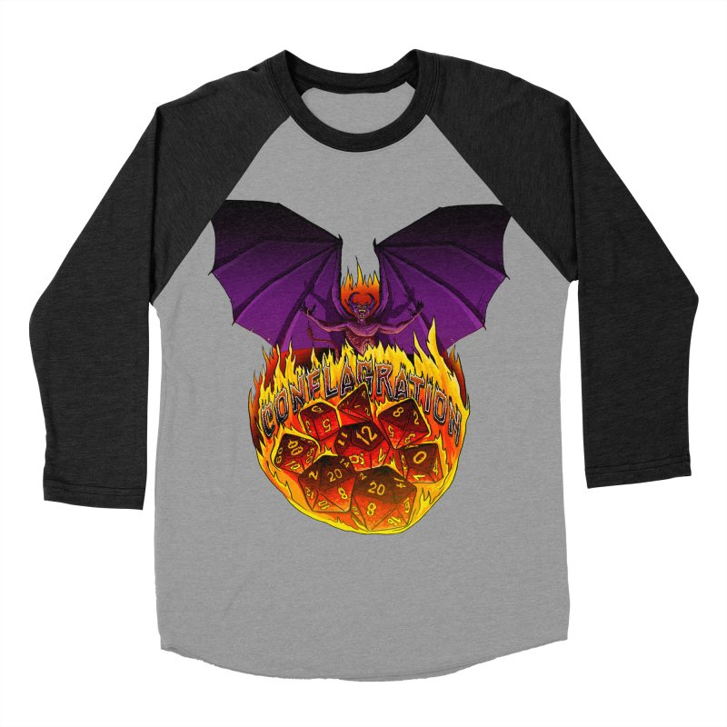 Conflagration -Text Free Men's Baseball Triblend Longsleeve T-Shirt by Joe Abboreno's Artist Shop
