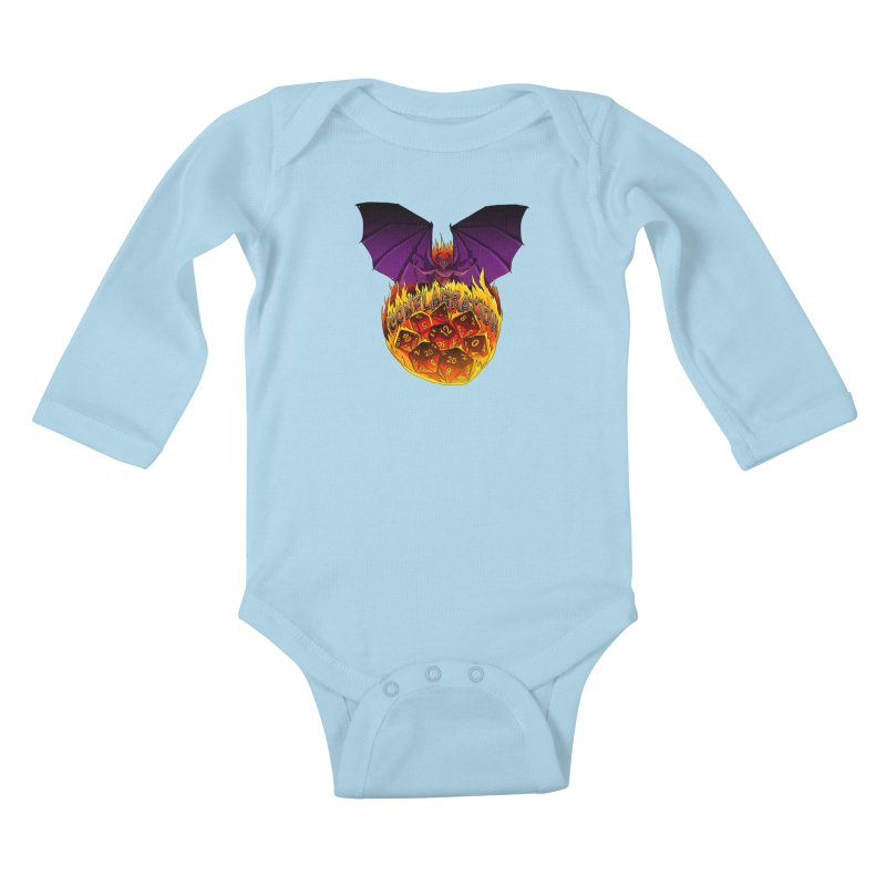 Conflagration -Text Free Kids Baby Longsleeve Bodysuit by Joe Abboreno's Artist Shop