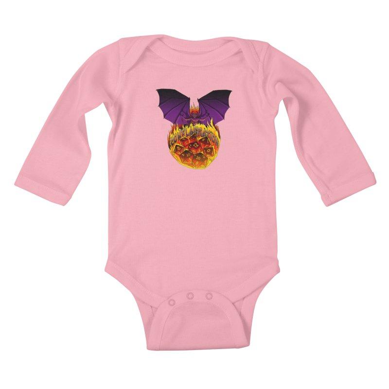 Conflagration -Text Free Kids Baby Longsleeve Bodysuit by Joe Abboreno's Artist Shop