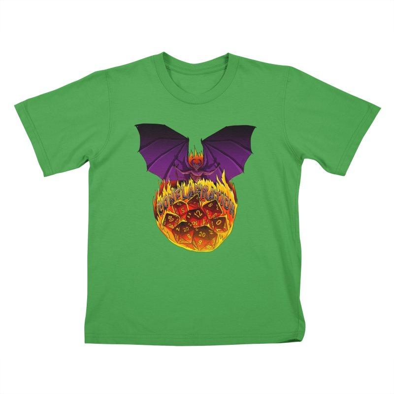 Conflagration -Text Free Kids T-Shirt by Joe Abboreno's Artist Shop