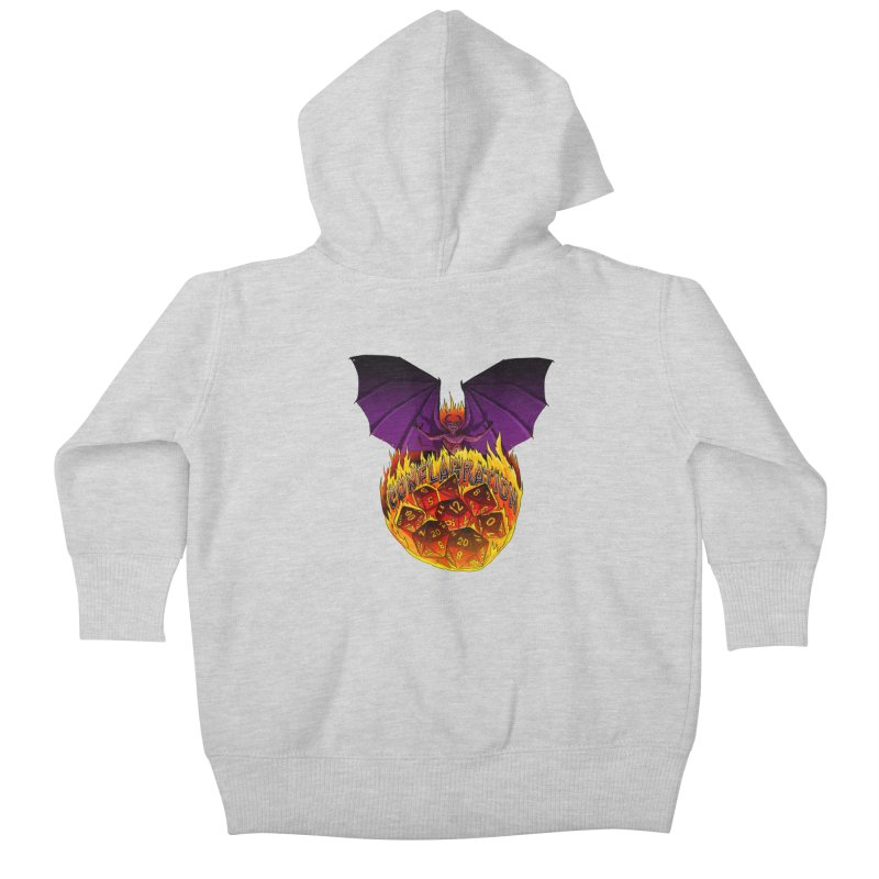 Conflagration -Text Free Kids Baby Zip-Up Hoody by Joe Abboreno's Artist Shop