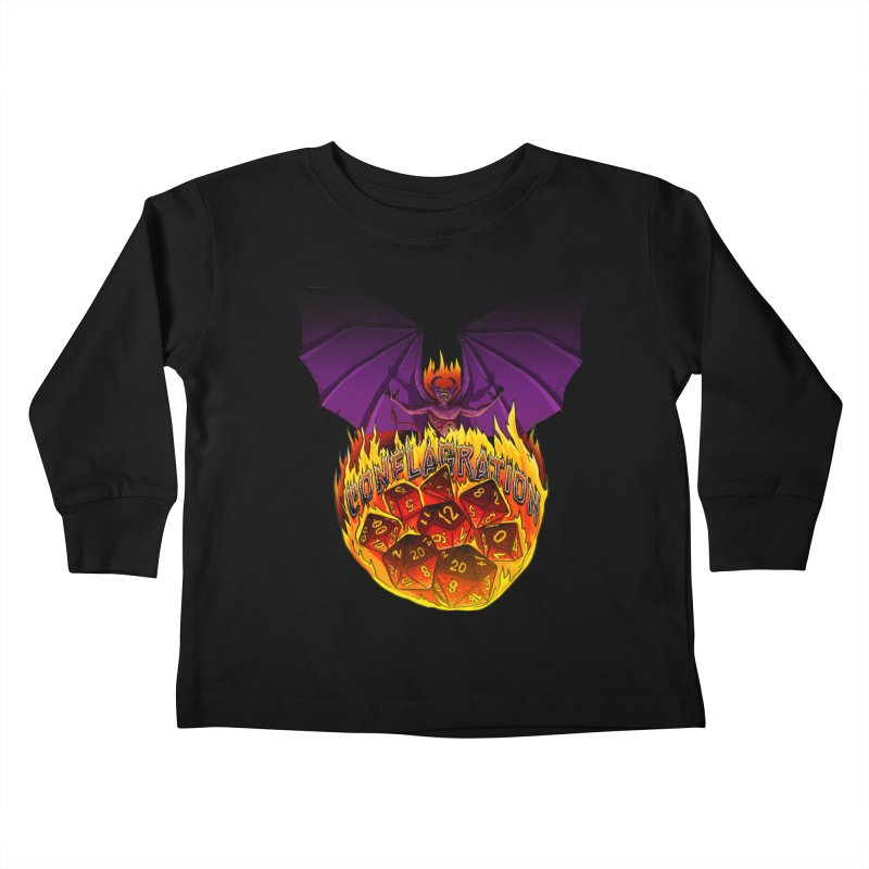 Conflagration -Text Free Kids Toddler Longsleeve T-Shirt by Joe Abboreno's Artist Shop