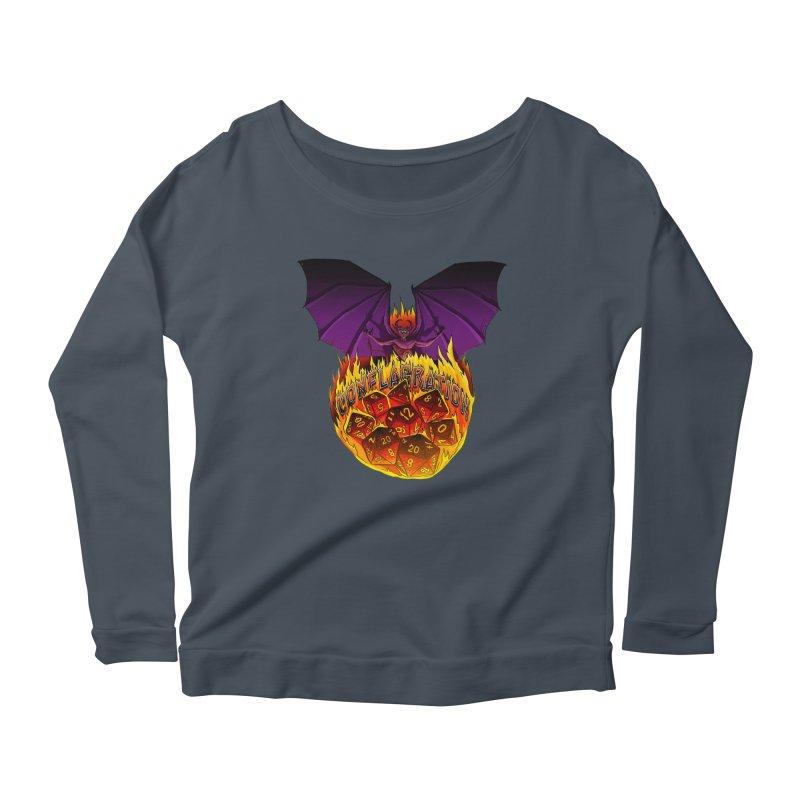 Conflagration -Text Free Women's Scoop Neck Longsleeve T-Shirt by Joe Abboreno's Artist Shop
