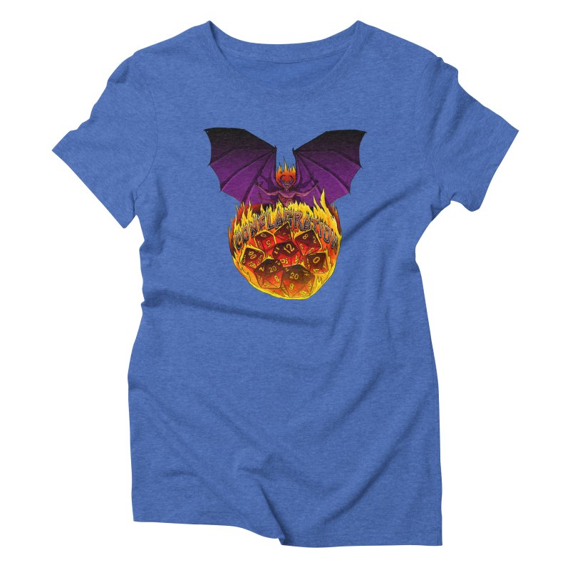 Conflagration -Text Free Women's Triblend T-Shirt by Joe Abboreno's Artist Shop