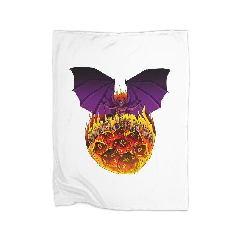 Conflagration -Text Free Home Fleece Blanket Blanket by Joe Abboreno's Artist Shop