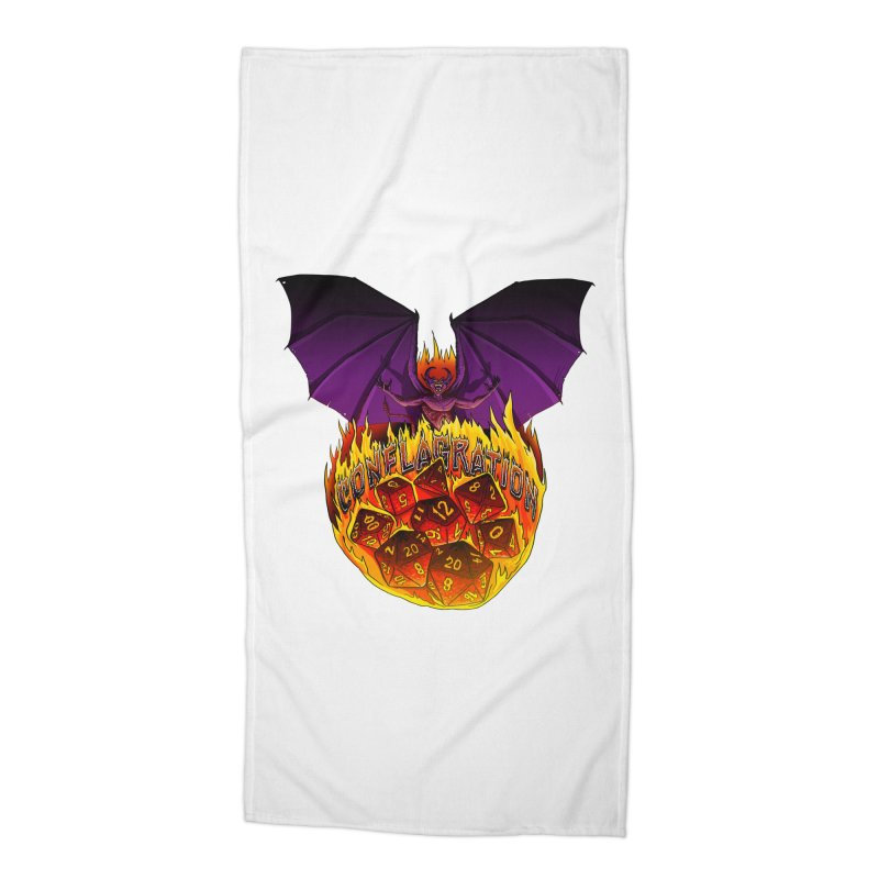 Conflagration -Text Free Accessories Beach Towel by Joe Abboreno's Artist Shop