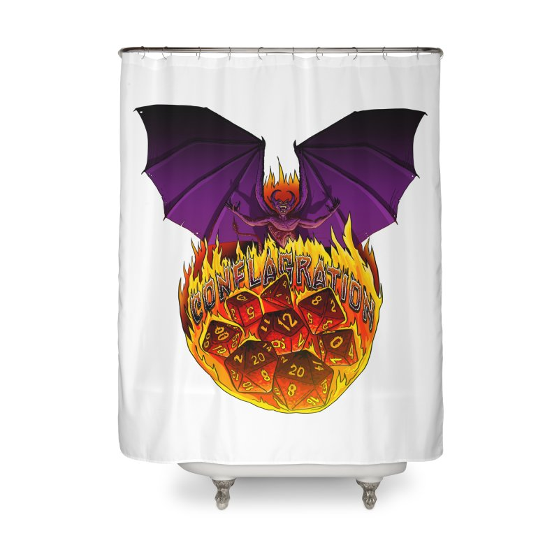 Conflagration -Text Free Home Shower Curtain by Joe Abboreno's Artist Shop