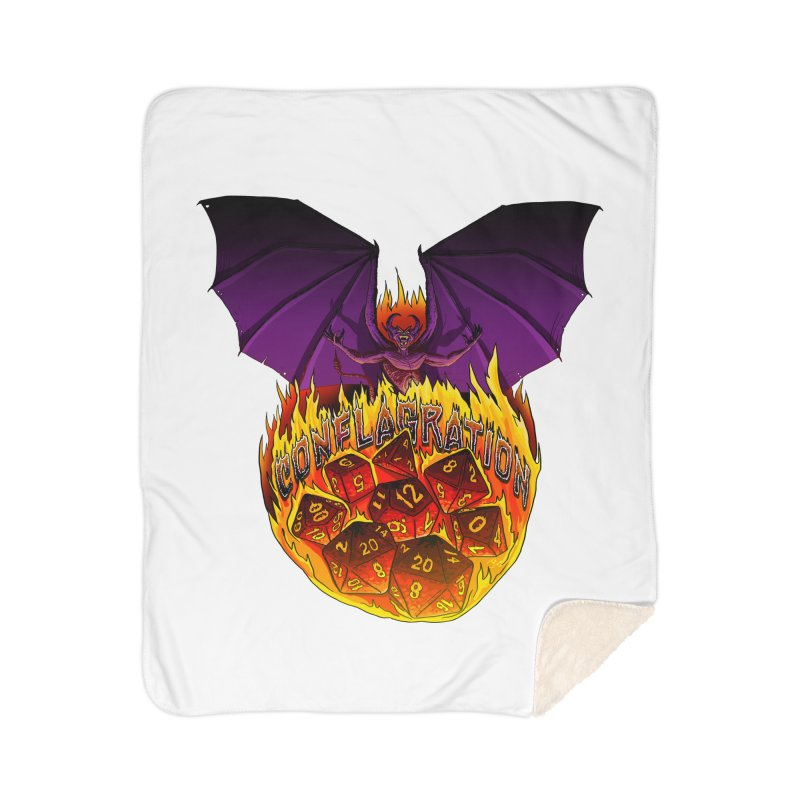 Conflagration -Text Free Home Sherpa Blanket Blanket by Joe Abboreno's Artist Shop