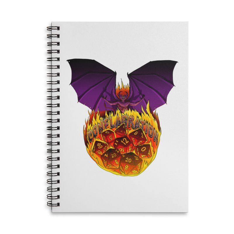 Conflagration -Text Free Accessories Lined Spiral Notebook by Joe Abboreno's Artist Shop