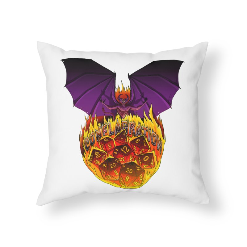 Conflagration -Text Free Home Throw Pillow by Joe Abboreno's Artist Shop