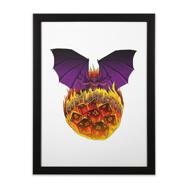 Conflagration -Text Free Home Framed Fine Art Print by Joe Abboreno's Artist Shop
