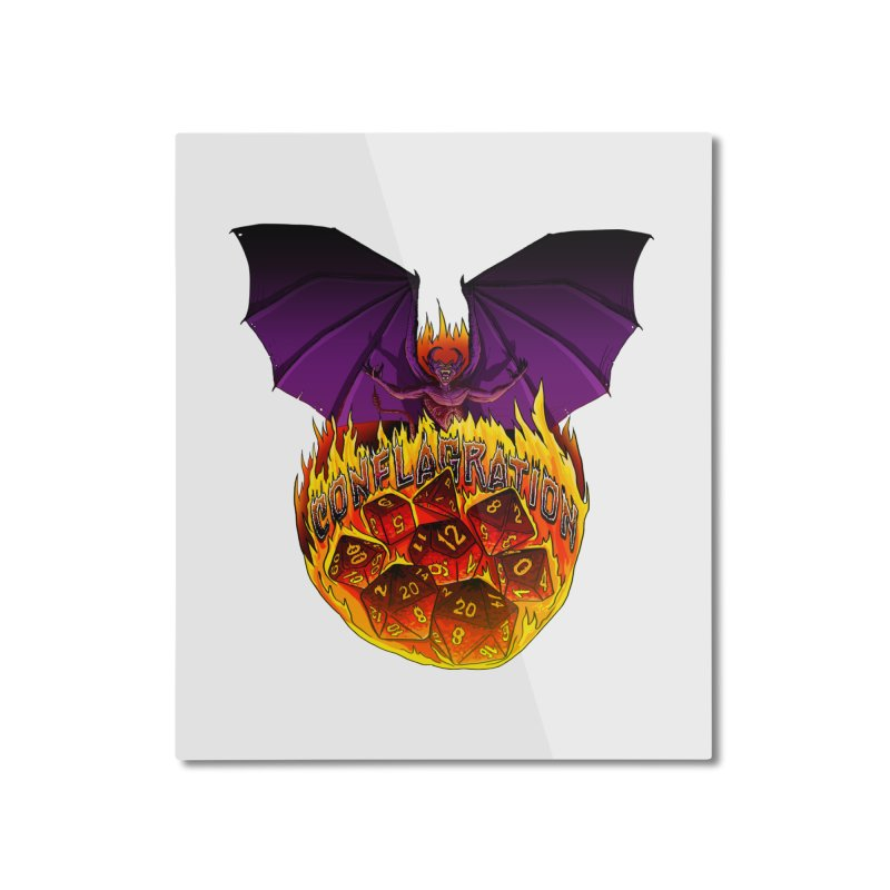 Conflagration -Text Free Home Mounted Aluminum Print by Joe Abboreno's Artist Shop