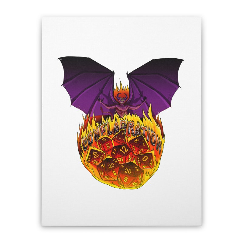 Conflagration -Text Free Home Stretched Canvas by Joe Abboreno's Artist Shop