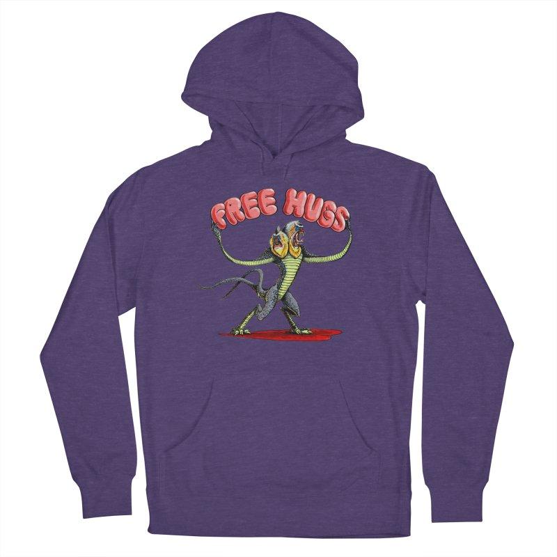 Free Hugs Demogorgon Men's French Terry Pullover Hoody by Joe Abboreno's Artist Shop