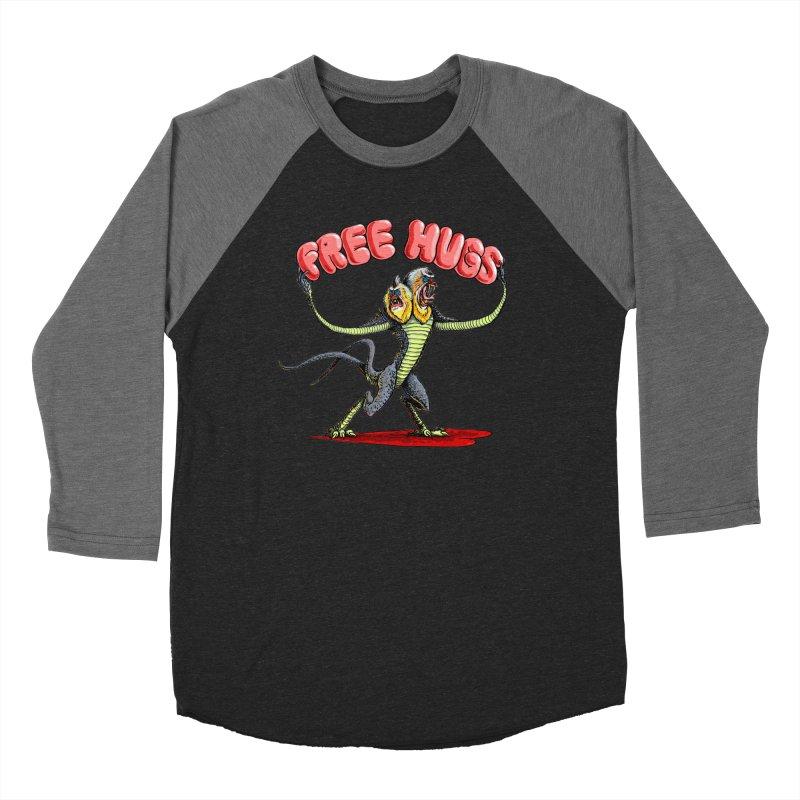 Free Hugs Demogorgon Women's Baseball Triblend Longsleeve T-Shirt by Joe Abboreno's Artist Shop