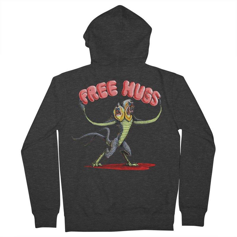Free Hugs Demogorgon Men's French Terry Zip-Up Hoody by Joe Abboreno's Artist Shop