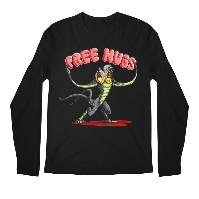 Free Hugs Demogorgon Men's Regular Longsleeve T-Shirt by Joe Abboreno's Artist Shop