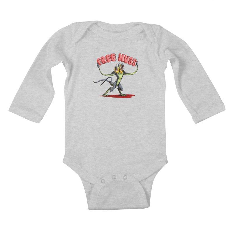 Free Hugs Demogorgon Kids Baby Longsleeve Bodysuit by Joe Abboreno's Artist Shop