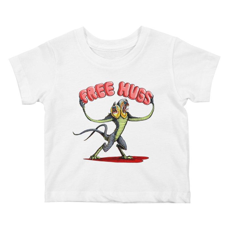 Free Hugs Demogorgon Kids Baby T-Shirt by Joe Abboreno's Artist Shop